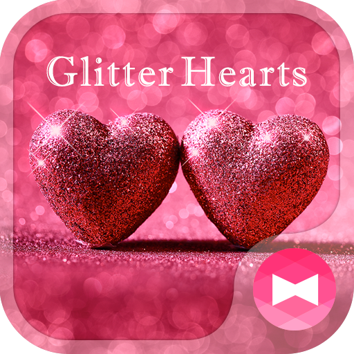 Lovely Wallpaper Glitter Hearts Theme Icon
