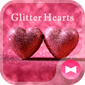 Lovely Wallpaper Glitter Hearts Theme