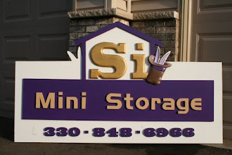 """Photo: Signs Ohio OH Carved in 3D """"SI Mini Storage"""" by Melissa Jones, for More Info please visit www.nicecarvings.com  Melissa delivers these signs worldwide and they now have a written lifetime warranty  Check the carved sign info FAQ... http://nicecarvings.com/html/carved_wood_sign_faq.html"""