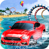 Crazy Water Surfing Car Race