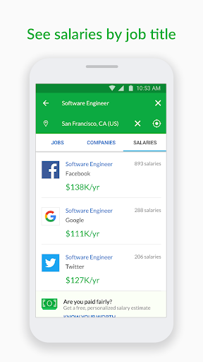 Glassdoor Job Search, Salaries & Reviews Screenshot