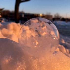 sun beauty by Melissa Poling - Instagram & Mobile iPhone ( no filter, winter, magical, ice, snow, bubbles, sunrise, nature photo,  )