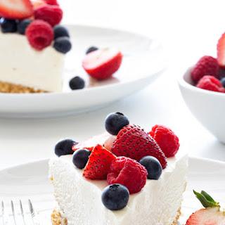 No Bake Frozen Cheesecake.