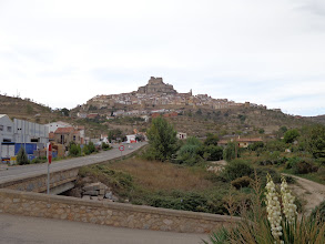 Photo: Approaching Morella from the south