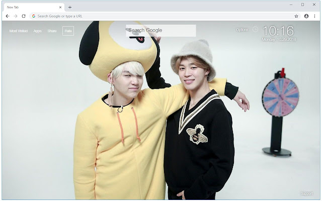 BTS Suga & Jimin Wallpapers Yoonmin New Tab