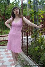 """Photo: Плаття """"Рожева мрія"""". Зв'язане на замовлення."""