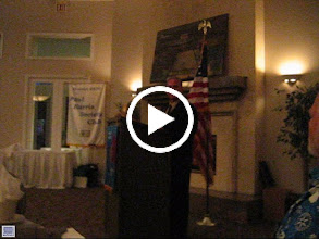 Video: President Wayne Zimmerman thanked Boo and Frank Dragoun for the table settings for the Installation Banquet. The meeting closed with the Rotary's  Four Way Test. - June 14, 2013