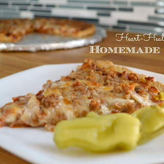 The Best Homemade Heart Healthy Pizza.