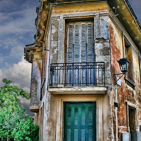 Greece Architecture by Dennis Granzow - Landscapes Travel ( europe, digital art, greece, architecture, old building )