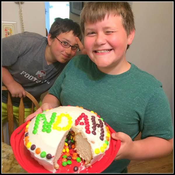 Pleasant Noahs Skittle Cake Just A Pinch Recipes Birthday Cards Printable Benkemecafe Filternl
