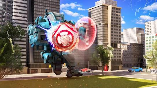 Futuristic Robot Flying Ball Battle 2