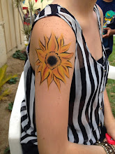 Photo: Sunflower body paint by Tess, Orange County. Call to Book Tess at 888-750-7024