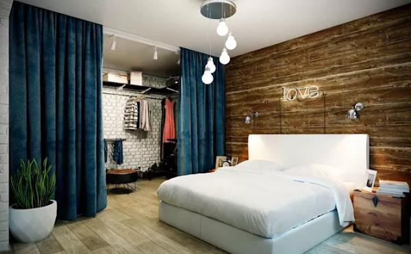 Rèm phòng thay đồ tạo sự ngăn cách không gian linh hoạt và đẹp