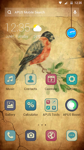 Sand Paper APUS Launcher theme - screenshot