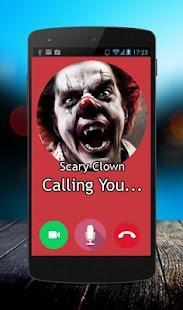Call video prank Scary Clown - náhled