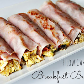 Low Carb Breakfast Burritos.