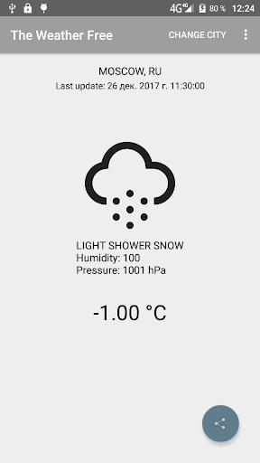 The Weather Free 1.1 screenshots 1