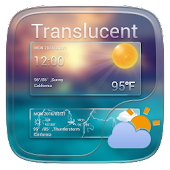Translucent GO Weather Widget