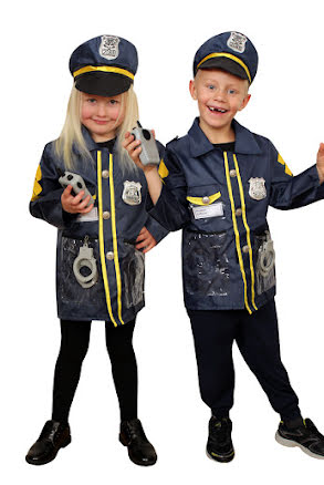 Polisjacka med tillbehör