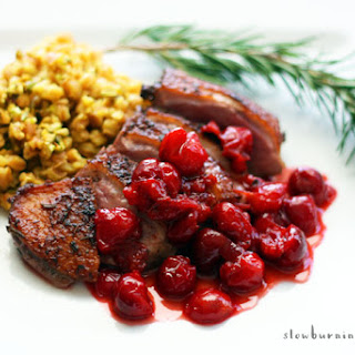 Easy and Absolutely Blissful Duck with Cherry Sauce.