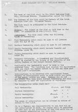 Photo: Original Club Constitution (p 1)