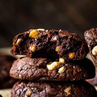 Brownie Walnut Chunk Cookies.
