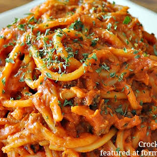 Crock pot Spaghetti.