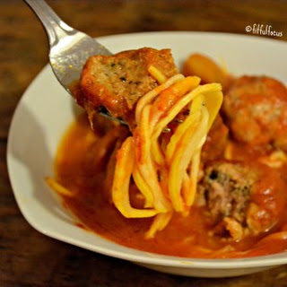 Healthy Spaghetti & Meatballs {nut/soy/gluten/lactose-free}
