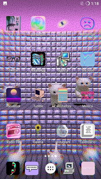 Vaporwave n aesthetic live wallpaper on
