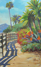 "Photo: Palisades Park 3 1/2"" x 5 3/4"" watercolor and gouache"