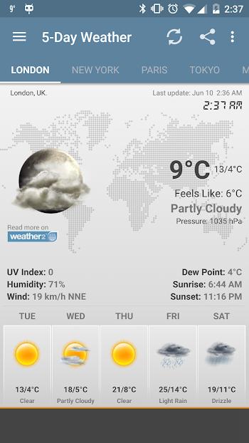 Weather & Clock Widget Ad Free- screenshot