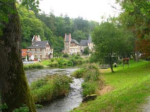 Photo: Z rzeką Bode mieliśmy kontakt wielokrotnie, począwszy od Quedlinburga i Thale.  Wedrowaliśmy w górę najpierw rowerami, a gdy dolina stała się stroma i wąska, porzuciliśmy rowery i udaliśmy się dalej na całodzienną pieszą wspinaczkę.
