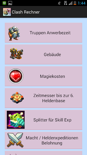 Clash Calculator in German