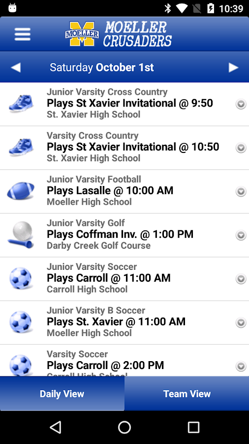 Moeller High School Sports- screenshot