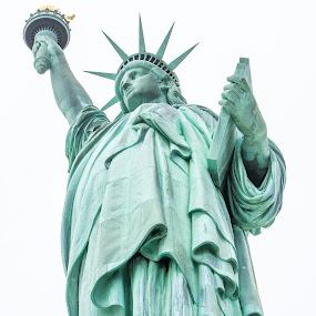 Lady Liberty by Thomas Shaw - Buildings & Architecture Statues & Monuments ( sky, dress, city, island, statue, torch, lady liberty, monument, new york, 2018, liberty, new york city, statue of liberty, lady, nyc, photography )