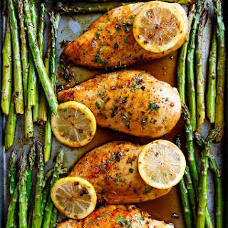 Baked Lemon Chicken And Asparagus Recipes.
