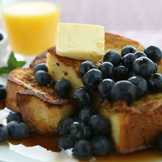 Slow-Cooked Blueberry French Toast.