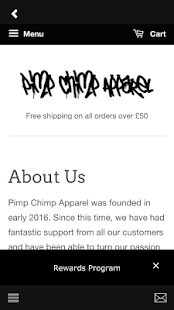 Pimp Chimp Apparel- screenshot thumbnail