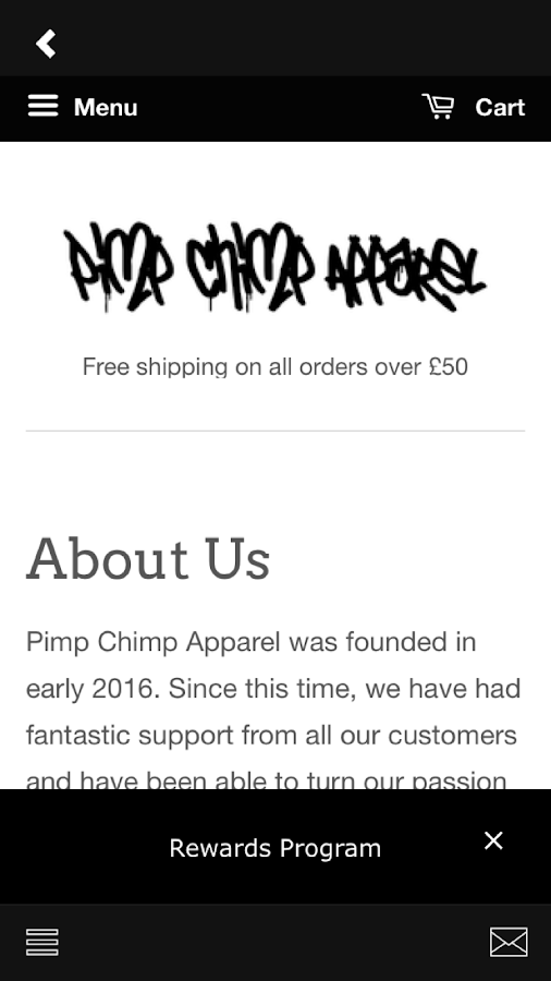 Pimp Chimp Apparel- screenshot