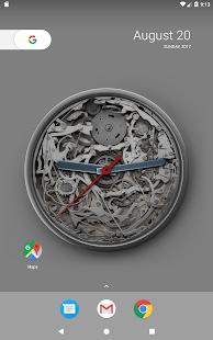 Mechanical Analog Clock Live Wallpaper - náhled