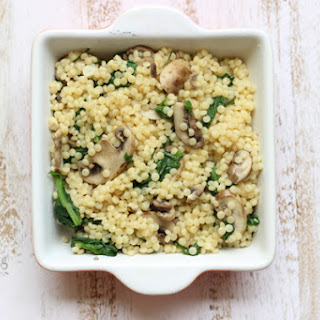 Mushroom and Spinach Couscous