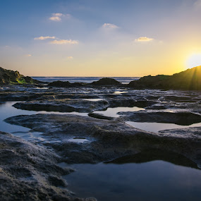 Sunset Overlook by Maya Bar - Landscapes Beaches ( beach, sunset, skyline, water, sea,  )