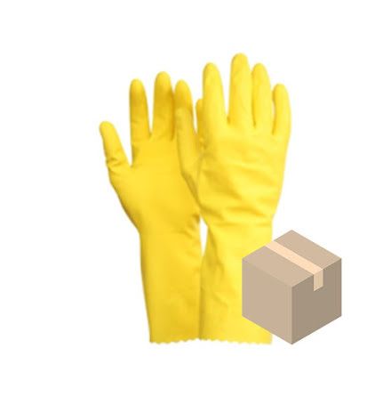 Kemskyddshandske Fingers Latex 10-pack