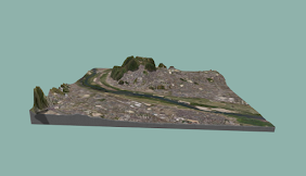 rinkakでこぼこマップ/サイズ:15cm