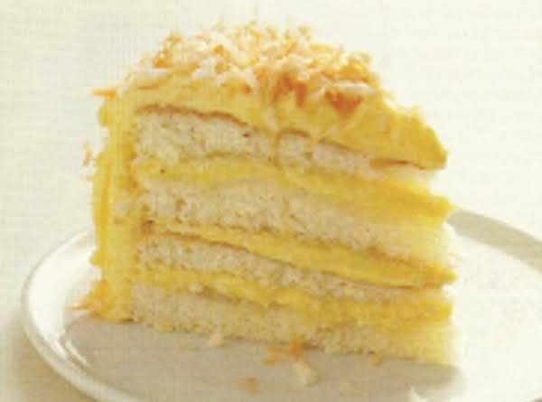 Coconut Cake With Coconut Filling & Buttercream