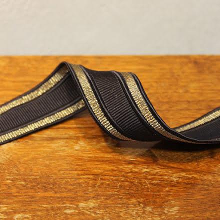 Rynkband - svart/guld