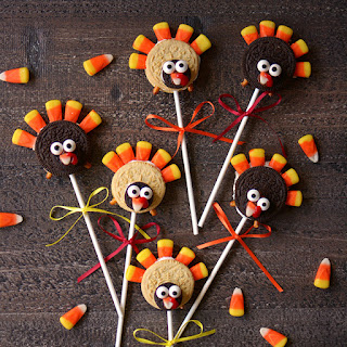 No Bake Turkey Cookie Pops.
