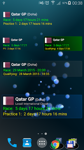 Motoracing Countdown Widget