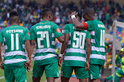 Bloemfontein Celtic celebrating a goal during the Absa Premiership 2019/20 game between Bloemfontein Celtic and Golden Arrows at Dr Molemela Stadium in Bloemfontein on 11 August 2019.
