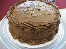 """Chocolate 2 Layer 9"""" Cake"""